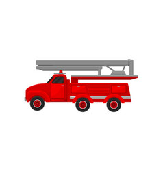 red engine fire truck emergency service for vector image