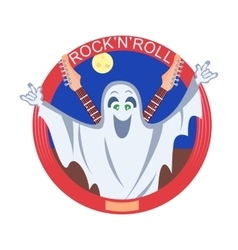 Rock And Roll Ghost vector