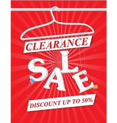 Sale poster with discount vector
