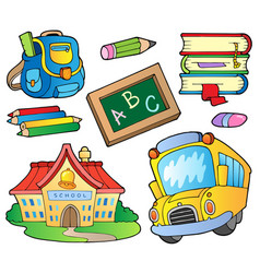 School supplies collection 1 vector