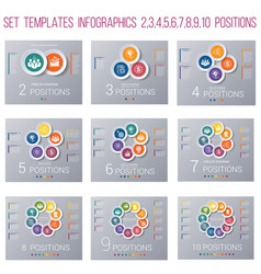 set 9 templates circles diagram infographics for vector image
