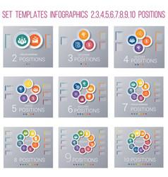 Set 9 templates circles diagram infographics for vector