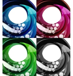 Set of abstract swirl backgrounds vector image