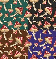 Set of toadstool mushrooms vector