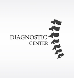 Spine diagnostic center vector image