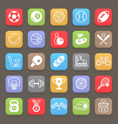 sport icons for mobile or web vector image