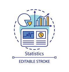 statistics study scientific research concept icon vector image