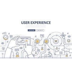 User Experience Doodle Concept vector