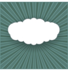 vintage background with form a cloud vector image