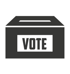 Vote box isolated icon design vector