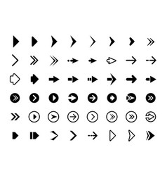web arrows symbols for website direction arrows vector image