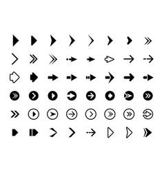 web arrows symbols for website direction arrows vector image