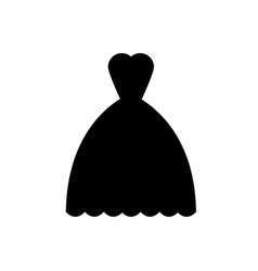 wedding dress icon vector image