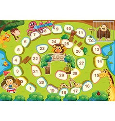 Zoo theme boardgame vector
