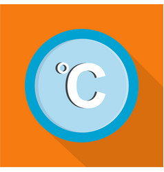 celsius icon flat style vector image