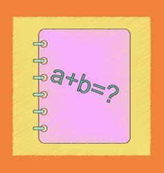 flat shading style icon math book vector image
