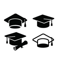 graduation map icon vector image vector image
