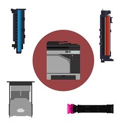 Print equipment vector image vector image