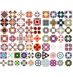 set of colorful geometric symmetric shape vector image vector image