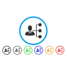 Distribution manager rounded icon vector