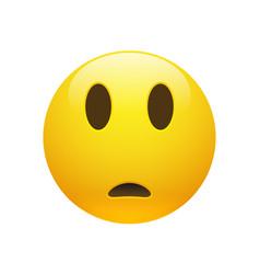emoji yellow sad confused face vector image
