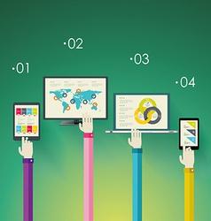 Flat design modern icons set for mobile apps vector image