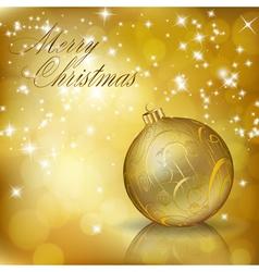 golden merry christmas vector image vector image