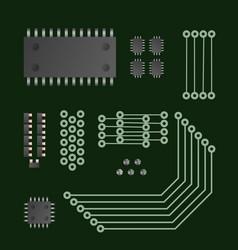 hi-tech technology vector image