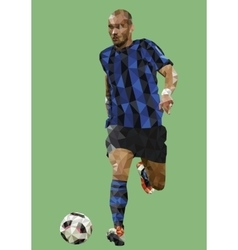 Low Poly Soccer Player vector image