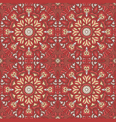 seamless pattern doodle ornament ethnic motives vector image