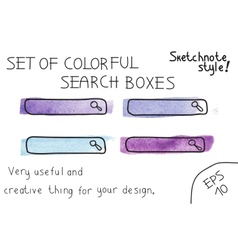 Set of colorful search boxes vector image