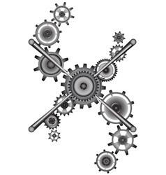 Sticks and gears vector