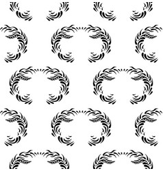 vintage decorative black seamless dama vector image vector image