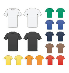 blank colored t-shirt template vector image