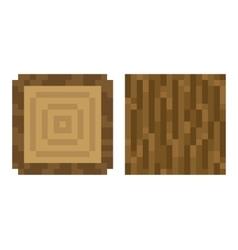 Texture for platformers pixel art - brown vector image