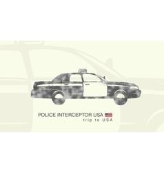 a car police interceptor USA vector image