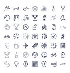 49 sport icons vector