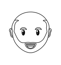 adult face cartoon vector image