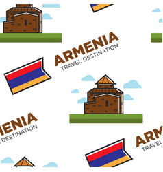 armenian architecture armenia travel destination vector image