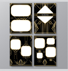 Artdeco 4 templates vector