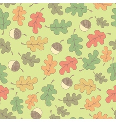 Autumn seamless pattern with acorns vector