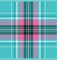 baby blue pink pastel color plaid seamless vector image
