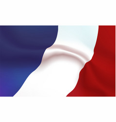 background france flag in folds tricolour banner vector image