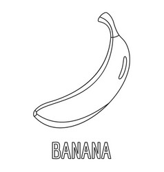 banana icon outline style vector image