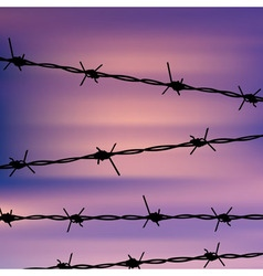 Barbed Wire Against Sky vector
