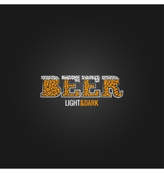 beer design menu background vector image vector image
