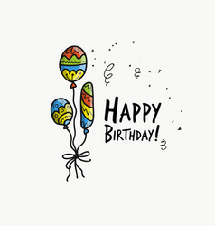 birthday card with balloons for your design vector image