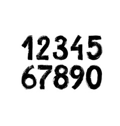 Black grunge numbers collection vector