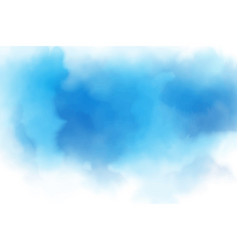Blue watercolor liquid cloudy blue sky background vector