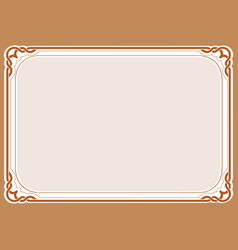 Brown background and frame vector